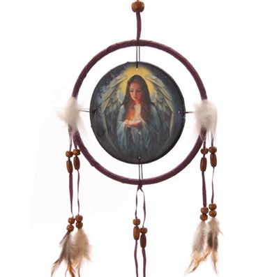 Angel Dream Catcher Purple by Lisa Parker Small